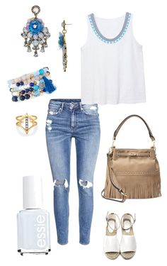 """""""Untitled #400"""" by kmysoccer on Polyvore featuring H&M, Violeta by Mango, Essie, NAKAMOL, Mellow World, BaubleBar and Stella & Dot"""