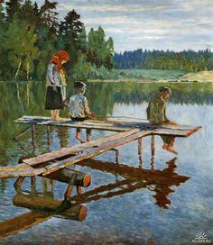 Богданов-Бельский Николай Петрович. Вечер (Удильщик). 1925