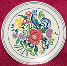 Poole Pottery Plate Hand Painted by Nellie Blackmore