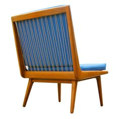 Hans Mitzlaff & Albrecht Lange; Beechwood and Cord Lounge Chair for Soloform, 1953.