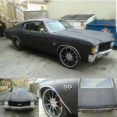 72 chevelle multi spoke wheels matte flat black