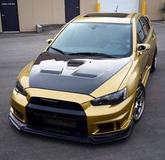 Gold wrapped Evo X