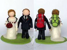 Bergsteiger Brautpaar von www.tortenfiguren.at - Mountain Climbing Weddingcake Topper