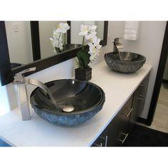 dark gray river stone vessel sink vessel sinks. Black Bedroom Furniture Sets. Home Design Ideas
