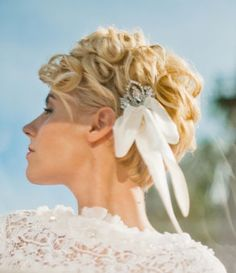 wedding hairstyle for short hair back
