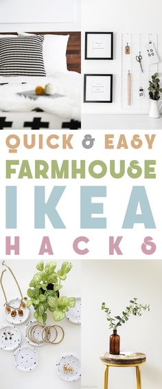 Quick and Easy Farmhouse IKEA Hacks are waiting for you to try. You could make a few for Weekend DIY Projects. Each one is a quick and easy diy project .they are all budget friendly diy projects and each one looks fabulous! Cool Diy, Easy Diy, Ikea Living Room, Ikea Bedroom, Childs Bedroom, Bedroom Kids, Ikea Furniture Hacks, Ikea Hacks, Diy Hacks