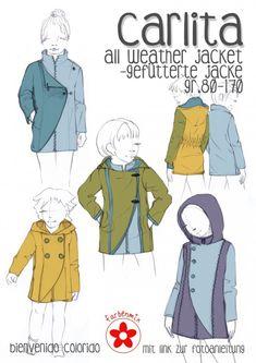 CARLITA ist eine stylische Jacke, die durch eine raffinierte Schnittführung mit Wiener Nähten im Vorderteil besticht. Im Brustbereich körpernahgehalten, läuft CARLITA in leichter A-Form aus. Der Übertritt sorgtnicht nur für zusätzlichen...