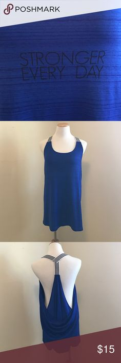 NWOT graphic workout tank. NWOT loose fit, graphic workout tank. xersion Tops Tank Tops
