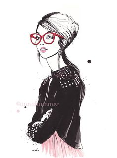 Fashion Illustration, Fashion Sketch, Fashion Wall Art, Girly Wall Art, Gift For Her,, Fashion Print, Teen Girl Wall Art,