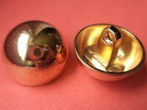 7  METALLKNÖPFE gold 21mm (2455-2) Knöpfe Metall