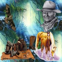 Le cowboy John Wayne