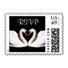 Swan RSVP stamps