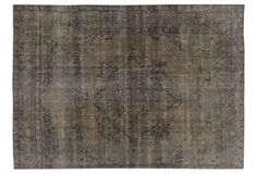 Overdyed Tabriz Carpet, 8'9'' x 12'5''