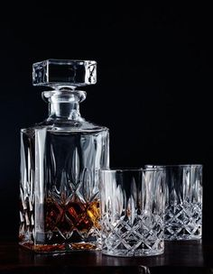 Nachtmann Noblesse Crystal Decanter and Whisky Glass Set. Whisky Set, Whiskey Gifts, Whiskey Meme, Whiskey Quotes, Whiskey Cocktails, Scotch Whiskey, Bourbon Whiskey, Whiskey Room, Whisky Tumbler