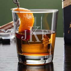 Nothing is more classic than a vintage cocktail or a traditional monogram. Make a classic statement and enjoy your favorite cocktails courtesy of our custom monogrammed lowball glass.