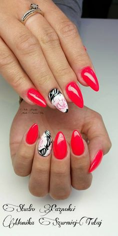 by Monika Szurmiej Tutaj Indigo Young Team:) Follow us on Pinterest. Find more inspiration at www.indigo-nails.com #nailart #nails #indigo #rose #red