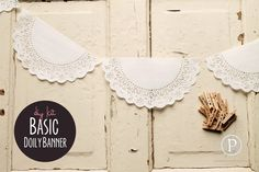 Kit Basic Doily Banner 15 ft by pebblesinmypocket on Etsy, $4.99