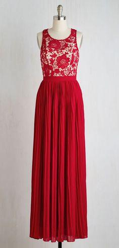 Romantic Semantics Dress in Crimson