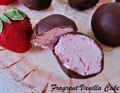 Raw Strawberries and Cream Truffles from Fragrant Vanilla Cake