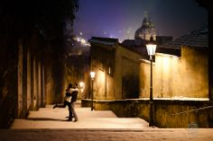 Destination Couples shoot By: Rowell Photography  Prague in Winter, Czech Republic