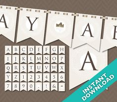 Printable Downton Abbey Party Banner ... Use again by LLPapergoods, $6.00