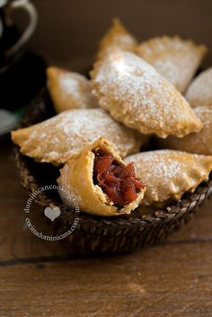 Empanaditas dulces (Fruit jam turnovers). A dessert of many lovely contrasts: A dessert of many lovely contrasts.