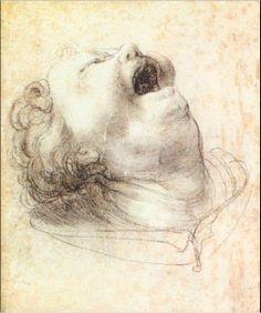 Head of a Shouting Man - Matthias Grünewald, 1520