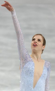 フィギュアスケート世界選手権女子ショートプログラムで2位となったイタリアのコストナー=さいたまスーパーアリーナで2014年3月27日、山本晋撮影