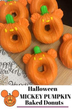 These delicious Mickey Pumpkin Donuts are the perfect treat to whip up some Disney magic in the kitchen! This will become a classic fall baking treat that the kids will love. Halloween Donuts, Easy Halloween, Halloween Treats, Disney Halloween Decorations, Halloween Books, Halloween Party, Disney Tips, Disney Food, Disney Recipes