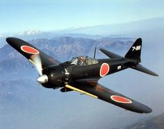 japanese military art | WWII Japanese Zero A6M Zero Fighter Plane Military Art Print Poster ...
