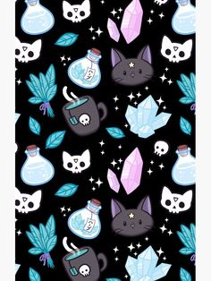"""""""Herb Witch // Black"""" Cases & Skins for Samsung Galaxy by nikury Witch Wallpaper, Halloween Wallpaper Iphone, Fall Wallpaper, Halloween Backgrounds, Cute Wallpaper Backgrounds, Cute Wallpapers, Iphone Wallpaper, Interesting Wallpapers, Unique Wallpaper"""