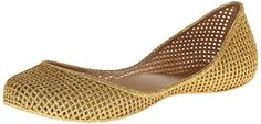 mel Dreamed by melissa Womens Amora Ballet Flat Gold 7 B US * Read more  at the image link. Note:It is Affiliate Link to Amazon.
