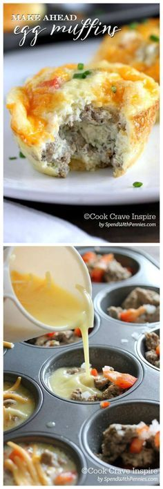 Make-Ahead Egg Muffins // make a big batch for super fast meals & snacks #fastfood #protein #mealprep