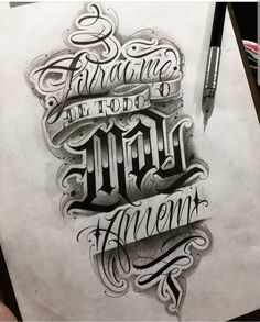 Chicano Lettering, Tattoo Lettering Fonts, Letras Tattoo, Some Sentences, Graffiti Tattoo, Phoenix Art, Arabic Calligraphy Art, Skull Art, Black Tattoos