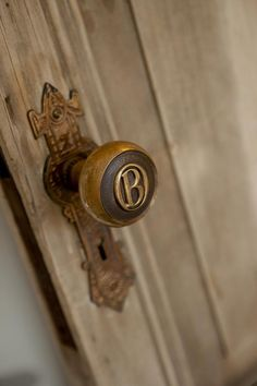 Genevieve Gorder Renovates an New York Brownstone. Love the door and doorknob she choose for her daughter. Knobs And Knockers, Knobs And Handles, Door Knobs, Door Handles, Door Pulls, Drawer Pulls, New York Brownstone, Genevieve Gorder, Grande Hotel