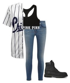 """""""Untitled #18"""" by coolkidkiya ❤ liked on Polyvore featuring rag & bone, Victoria's Secret and Timberland"""