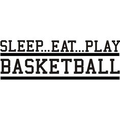 Design on Style 'Sleep Eat Play Basketball' Vinyl Wall Art Quote