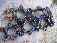 There is gorgeous bead embroidery jewelry on this website.