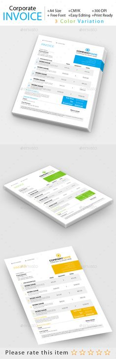 Invoice Template To Download Premium Modern Invoice Template  Modern Invoice Template  Pinterest