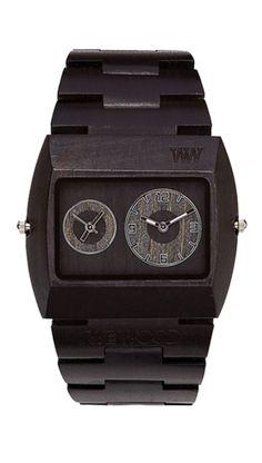 weWood Jupiter Black- yes a wood watch! Top Mode, Purse Hook, Wooden Watch, Well Dressed Men, Jaba, Casio Watch, Michael Kors Watch, Gq, Men Dress