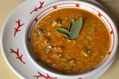 Minestra di riso con zucca e castagne