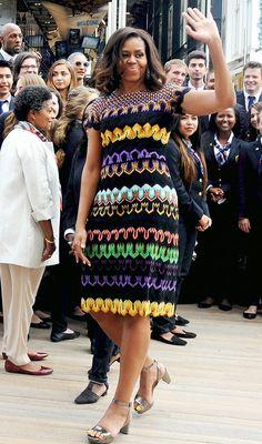 Michelle Obama wearing Missoni