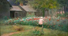 James Wells Champney - The Poppy Garden