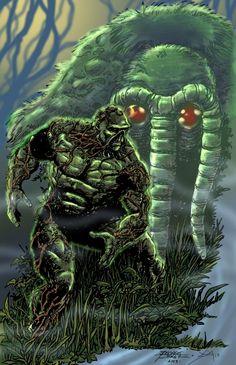 Perez/Smith Swamp Thing vs Man-Thing Comic Art