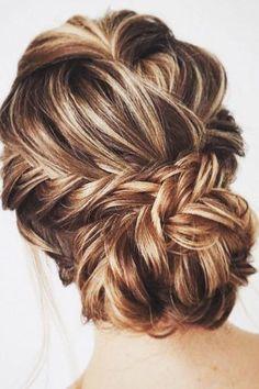 wedding hairstyles length medium hair braided updo lenabogucharskaya