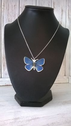 Blue Butterfly Handmade pendant on an 18 by thomaschadwickdesign, £10.00