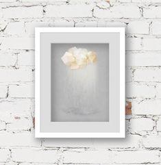 cloud wall art print, grey modern art print, rain cloud illustration, monochrome nursery art print, neutral kids décor, rain cloud art print