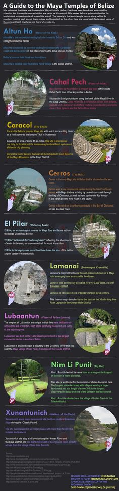 A Guide to the Maya Temples of Belize [Infographic] | Belize Visual Communication and Graphic Design - iBelmopan