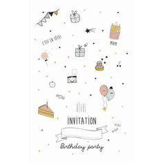 carte d'invitation anniversaire fille 10 ans à imprimer