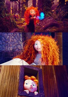 Merida -- I love her hair!  Mine looks just like that when I roll out of bed. I heard it took the animators three years just to get her hair right!  8 hours of sleep does it for me!